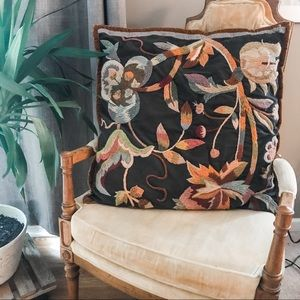 Dransfield & Ross Boho Embroidered Pillow Cover